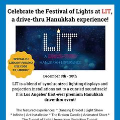 LIT: Drive-Thru Hanukkah Experience