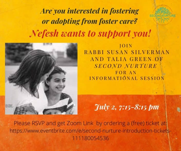 Second Nurture: Nefesh wants to support you!